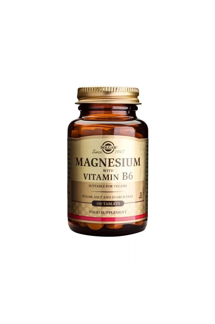 SOLGAR Magnesium with Vitamin B6, 100tabs
