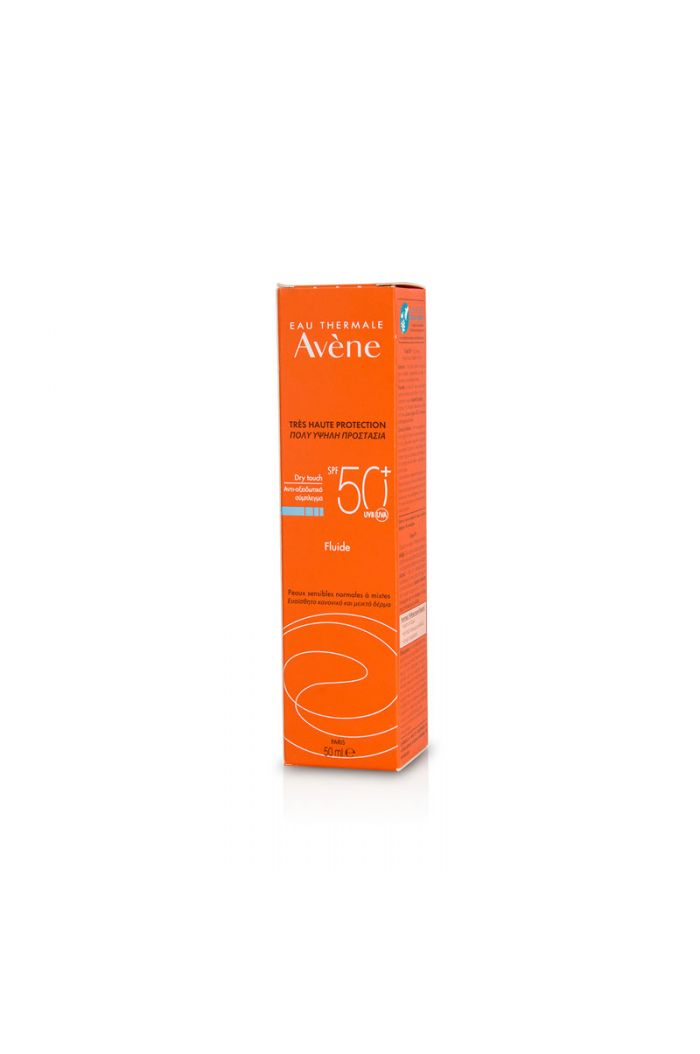 AVENE Solaire Fluide Dry Touch SPF50+ Αντηλιακή Λεπτόρρευστη Κρέμα Προσώπου, 50ml