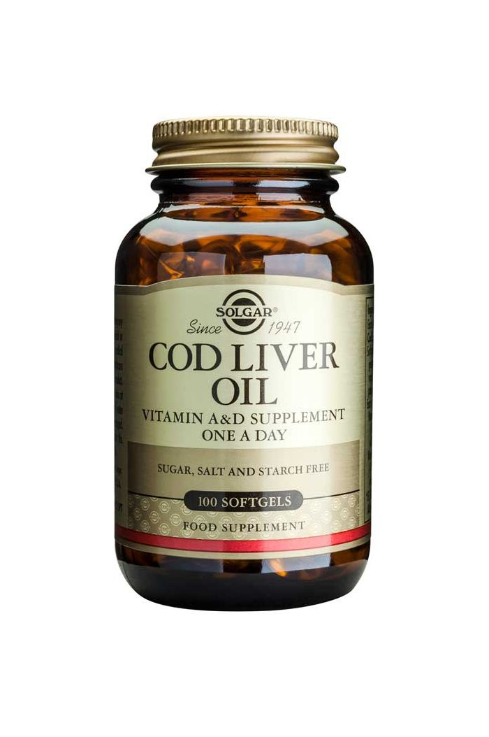 SOLGAR Cod Liver Oil, 100 softgels