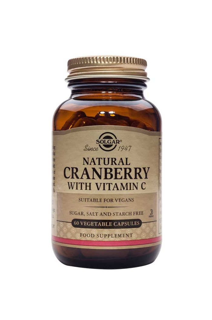 SOLGAR Natural Cranberry With Vitamin C, 60 veg. caps