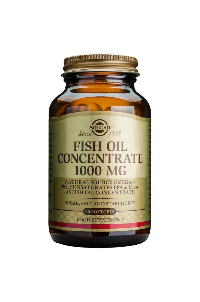 SOLGAR Fish Oil Concentrate 1.000mg, 60 softgels