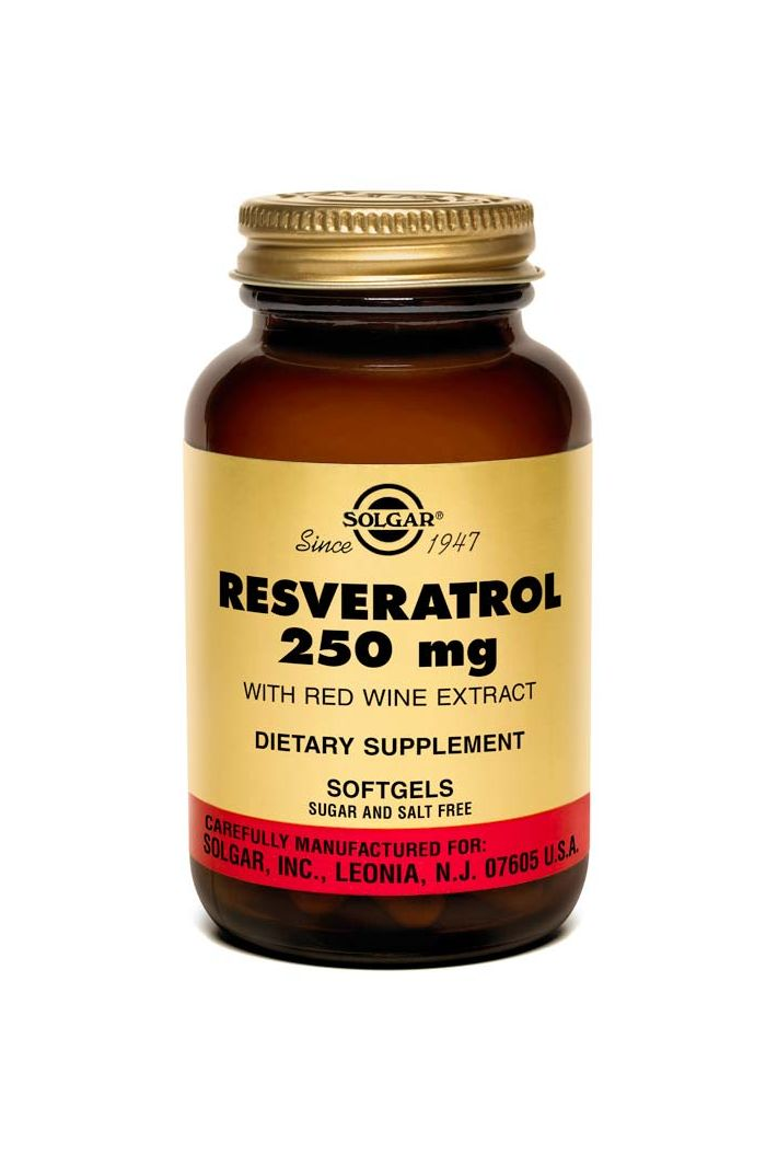 SOLGAR Resveratrol 250mg, 30 softgels