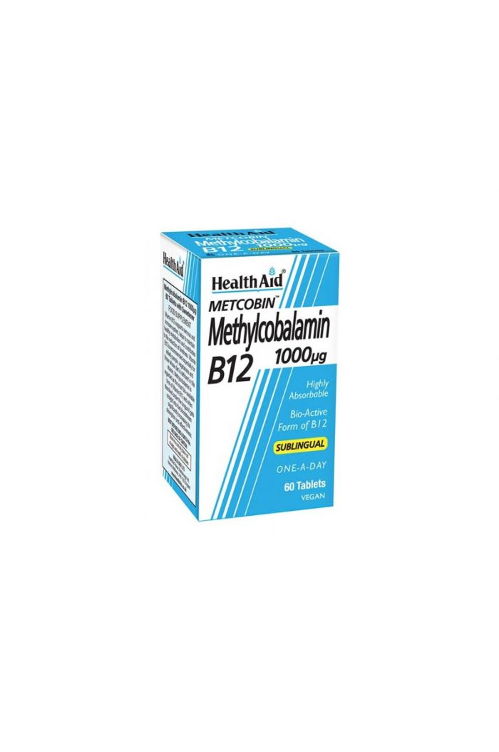 HEALTH AID Methylcobalamin Metcobin B12 1000mg, 60 tabs