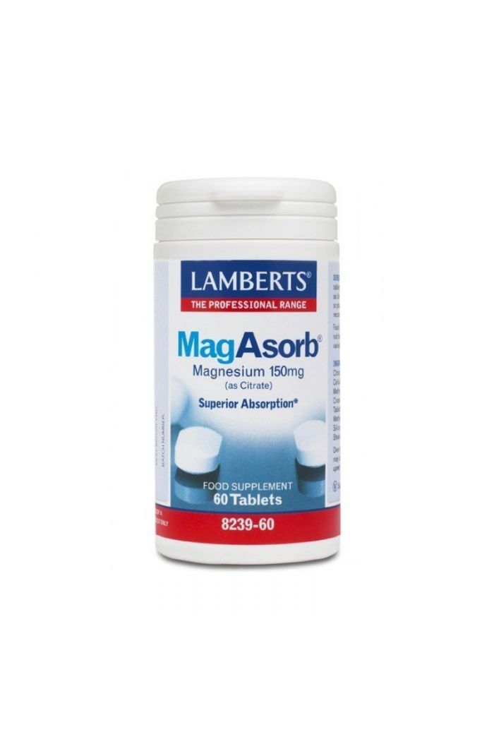 LAMBERTS MagAsorb 150mg 60 ταμπλέτες