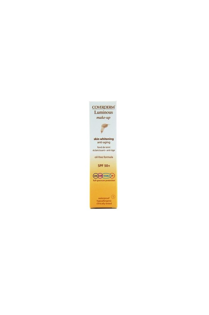 COVERDERM Luminous Make-up SPF15 No1, 30ml