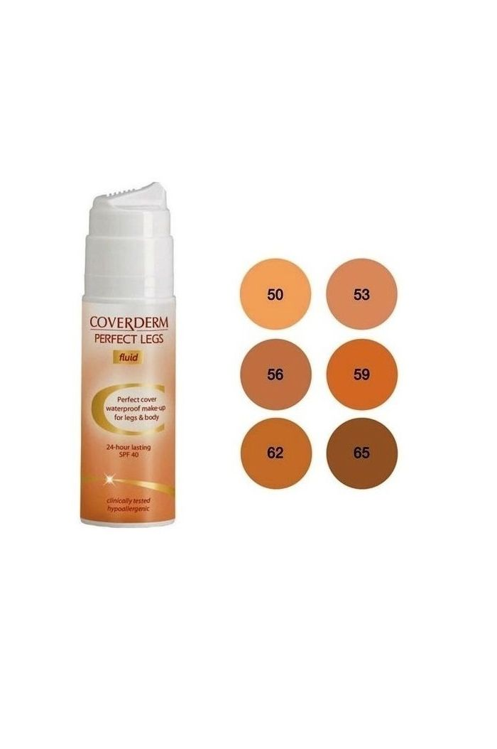 COVERDERM Perfect Legs Waterproof Make Up Fluid No62 SPF40, 75ml