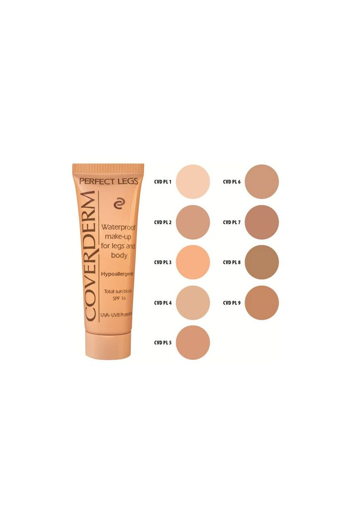 COVERDERM Perfect Legs Waterproof Make-up Σώματος & Ποδιών  No6 SPF16, 50ml
