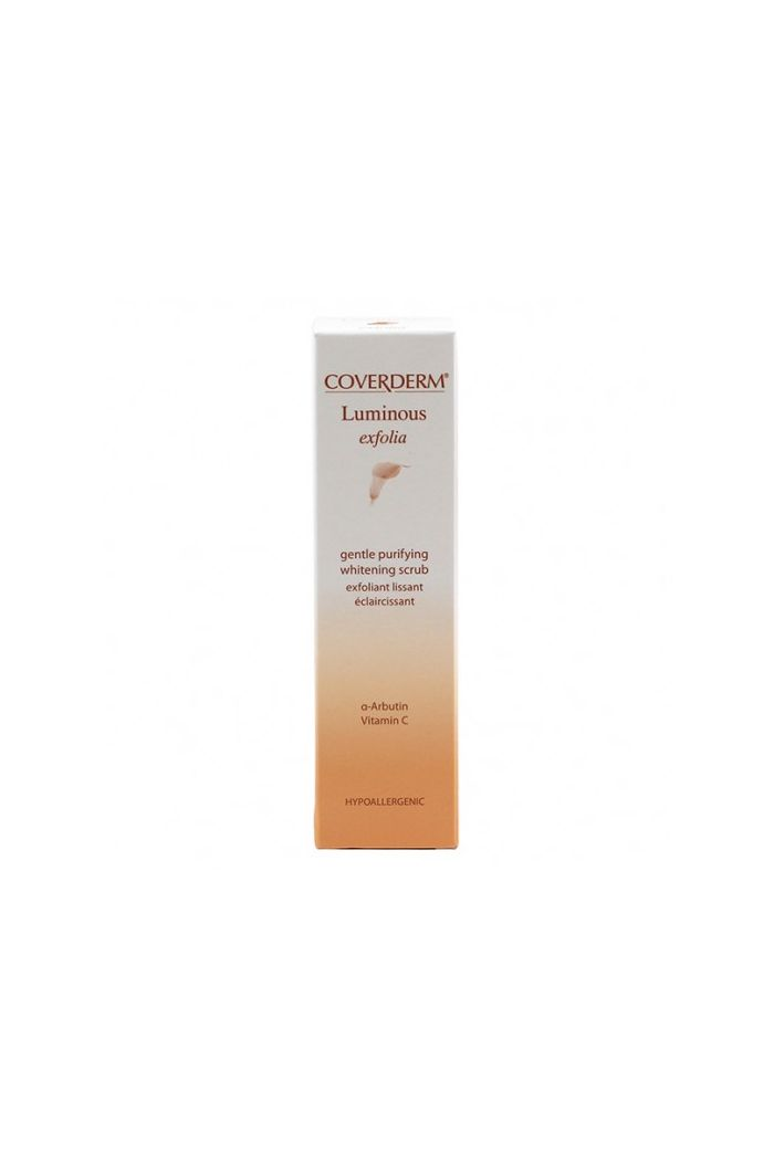 COVERDERM Luminous Exfolia Gentle Purifying Whitening Scrub Kρέμα Απολέπισης Προσώπου, 50ml