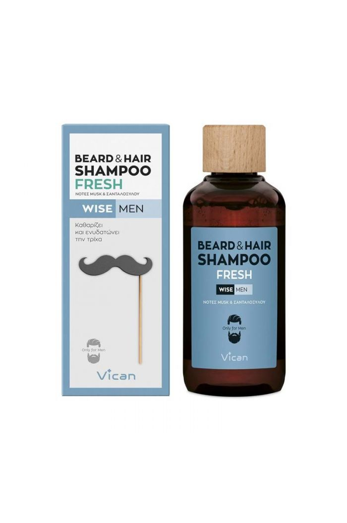 VICAN Wise Men - Beard & Hair Shampoo Fresh, 200ml