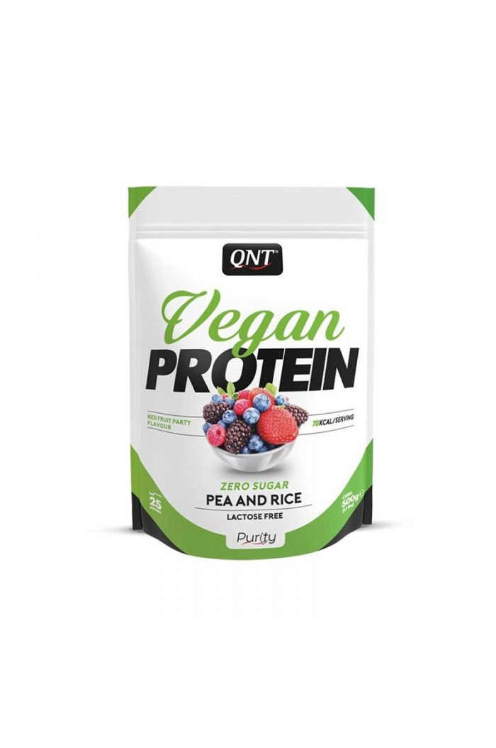 QNT Vegan Protein Red Fruit Party, 500gr