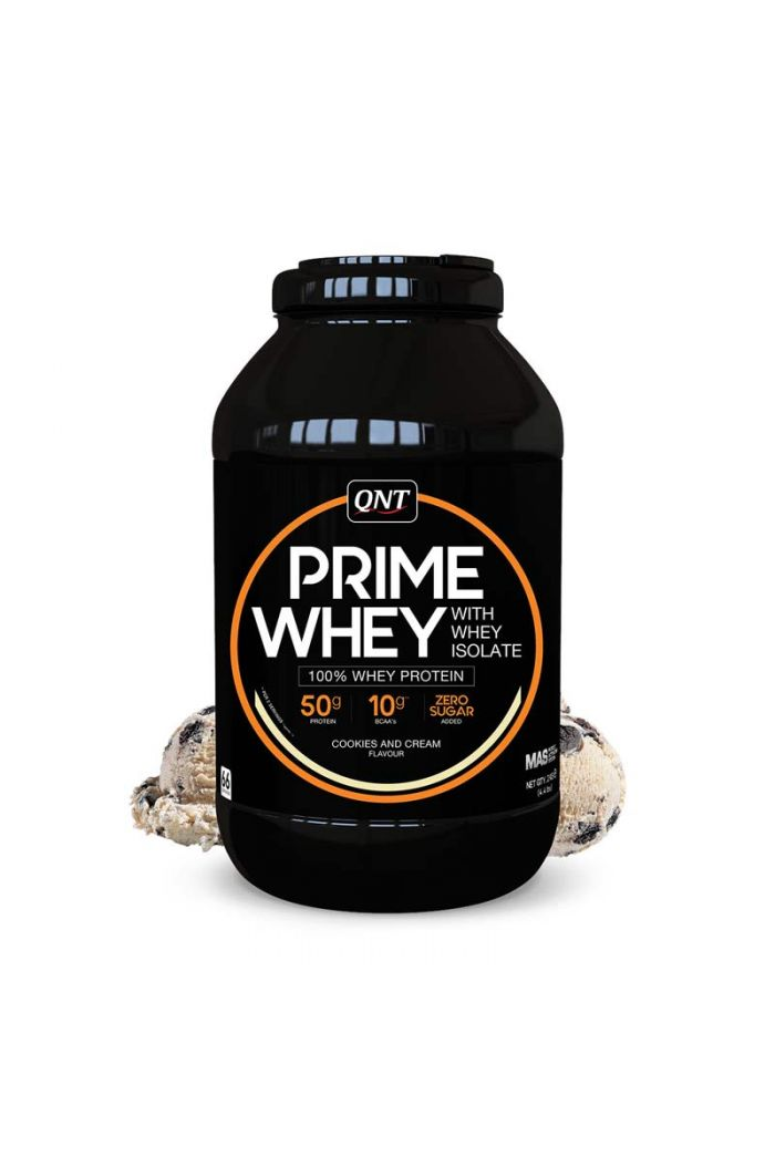 QNT Prime Whey 100% Whey Isolate & Concentrate Blend Cookies & Cream, 2kg