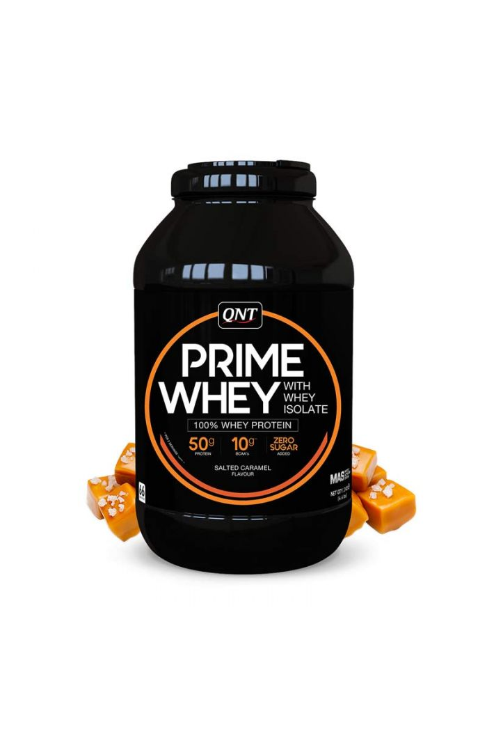 QNT Prime Whey 100% Whey Isolate & Concentrate Blend Salted Caramel, 2kg