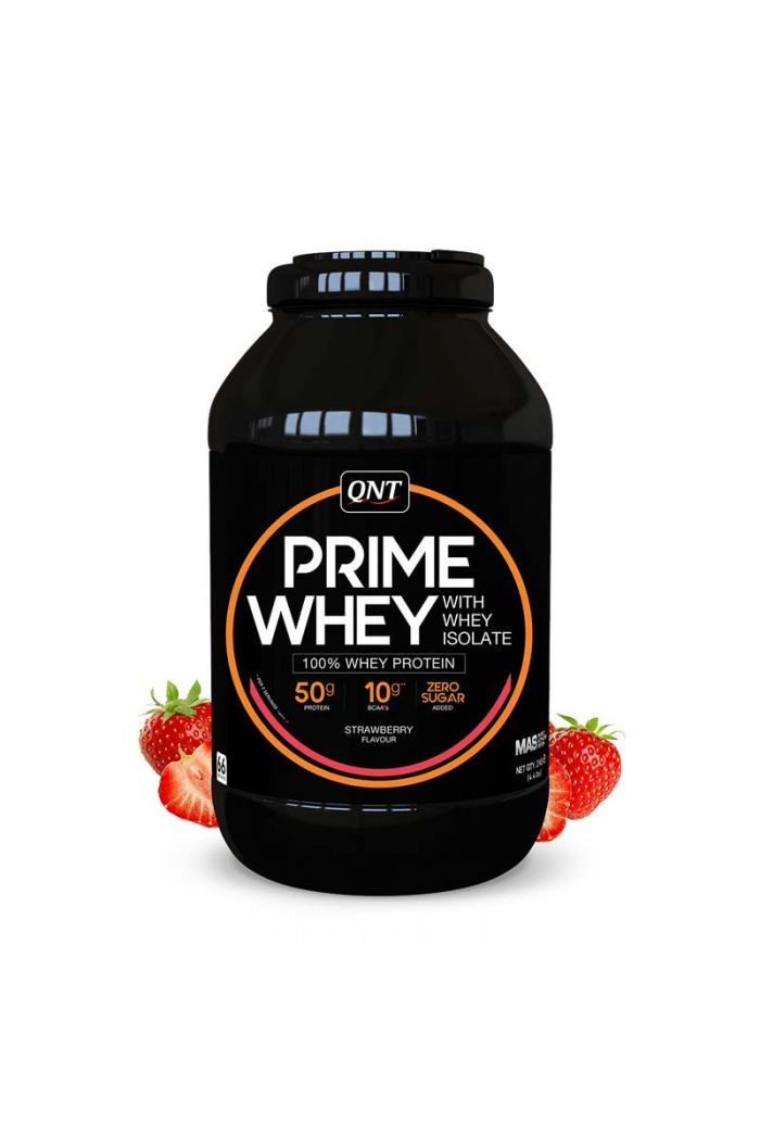 QNT Prime Whey 100% Whey Isolate & Concentrate Blend Strawberry, 2kg