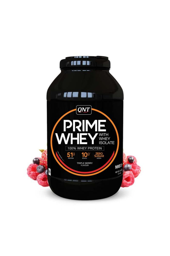 QNT Prime Whey 100% Whey Isolate & Concentrate Blend Triple Berry, 2kg