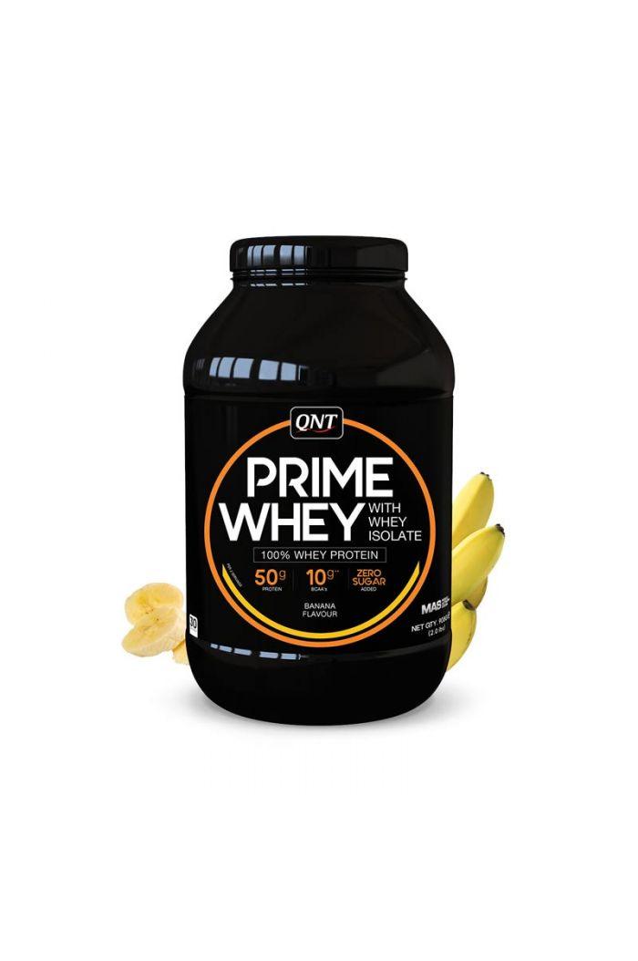 QNT Prime Whey 100% Whey Isolate & Concentrate Blend Banana, 908gr