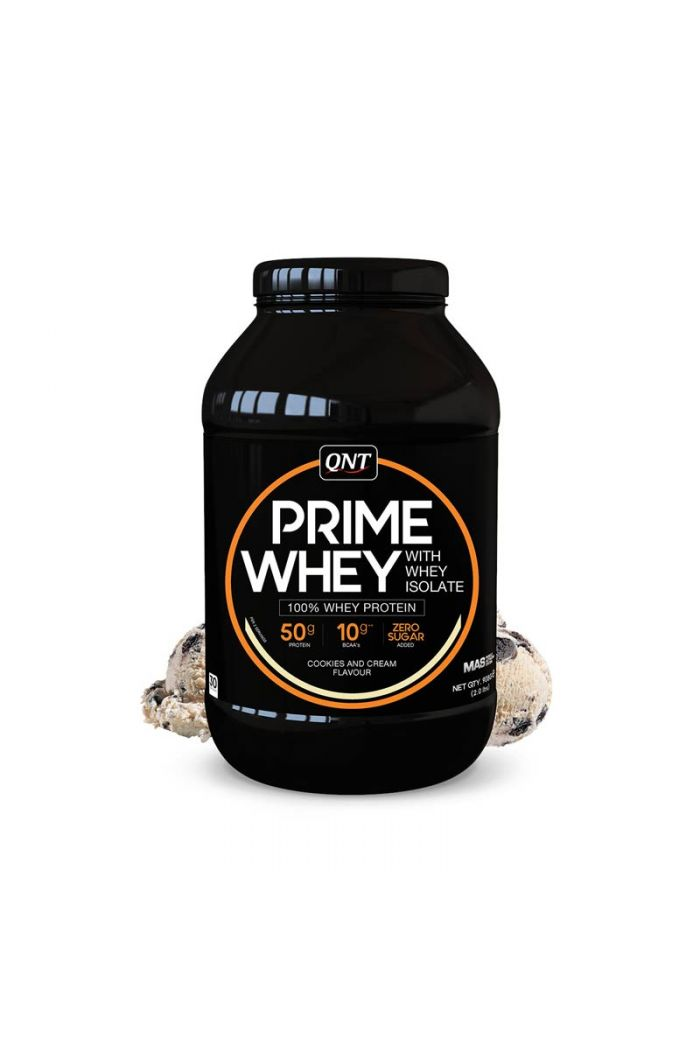 QNT Prime Whey 100% Whey Isolate & Concentrate Blend Cookies & Cream, 908gr