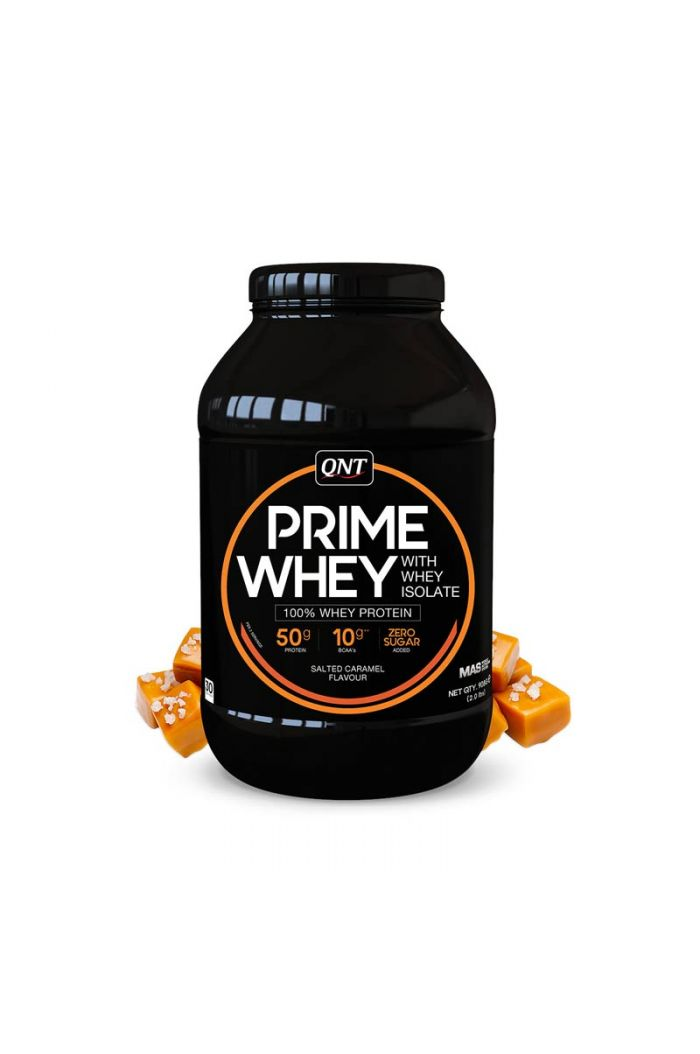 QNT Prime Whey 100% Whey Isolate & Concentrate Blend Salted Caramel, 908gr