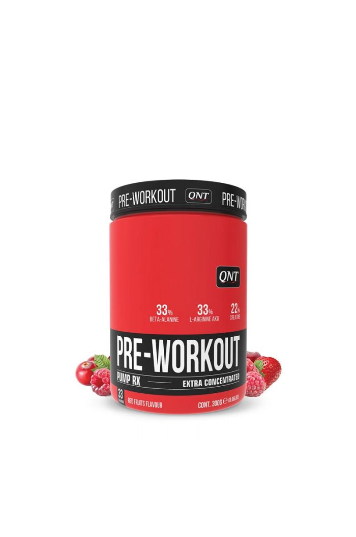 QNT Pre-Workout Pump RX Extra Concentrated Red Fruits, 300gr