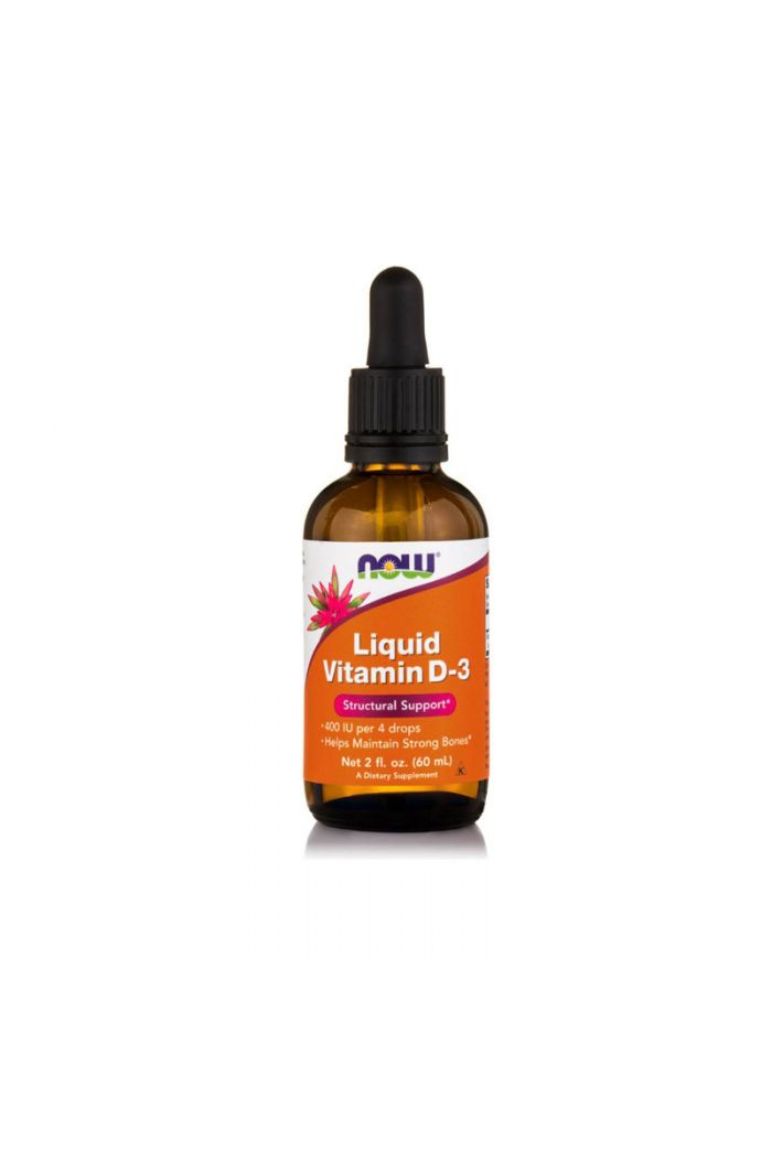 NOW Foods Vitamin D-3 Liquid 400 IU per 4 drops, 60ml