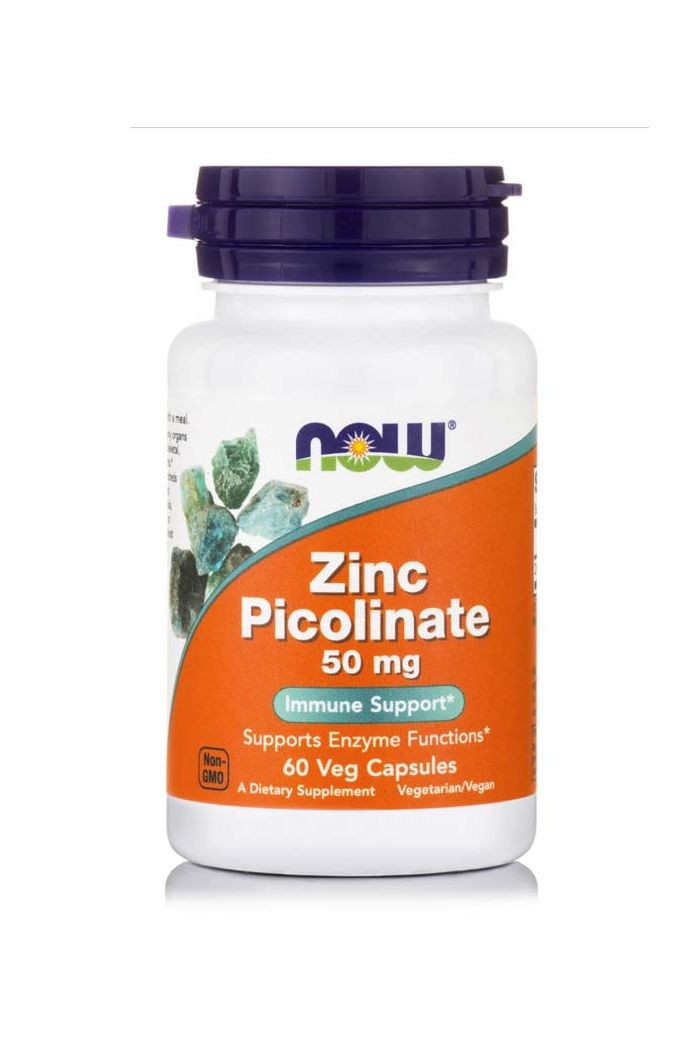 NOW Foods Zinc Picolinate 50mg, 60 κάψουλες