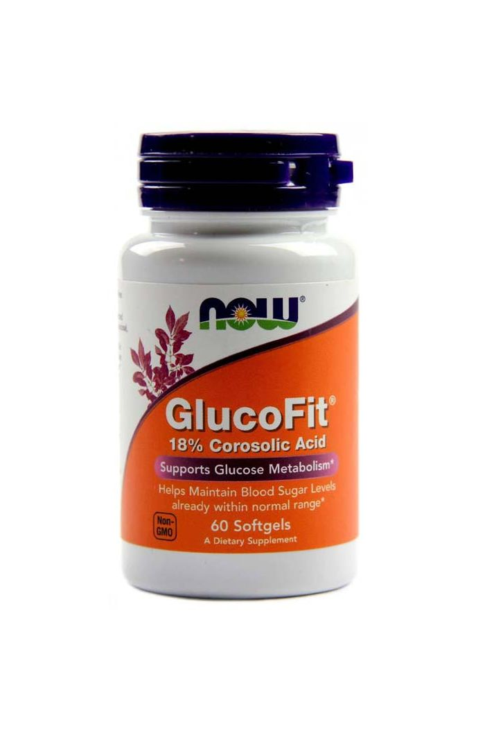 NOW Foods Glucofit Corosolic Acid, 60 softgels