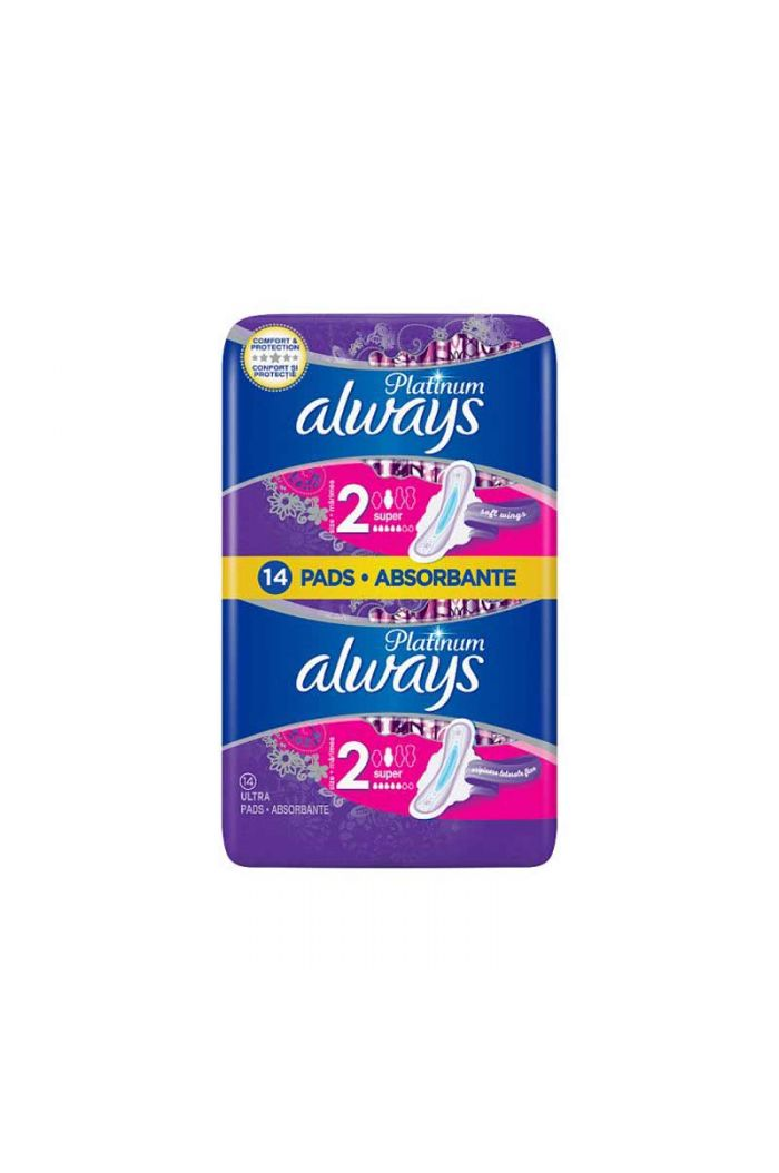 ALWAYS Platinum Ultra Super Plus 1+1 ΔΩΡΟ Size 2, 2x7τεμ