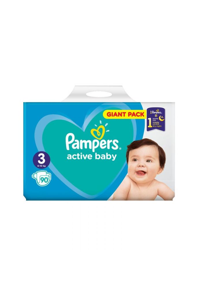 PAMPERS Active Baby Giant Pack No3 (6-10kg), 90τμχ