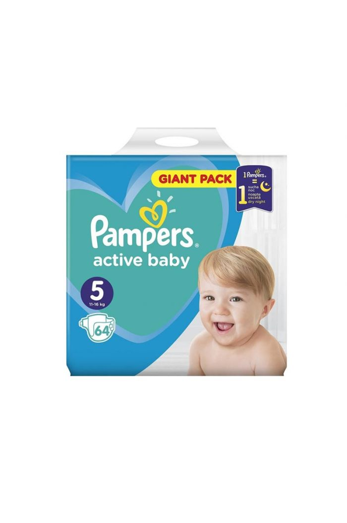 PAMPERS Active Baby  Giant Pack No5 (11-16kg), 64τμχ