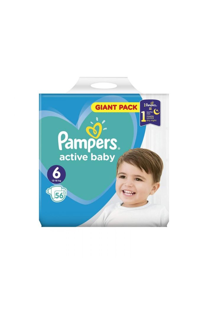 PAMPERS Active Baby Dry Giant Pack No6 (13-18kg), 56 τμχ