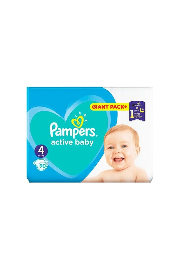 PAMPERS Active Baby Giant Box No 4 (9-14kg), 90τμχ