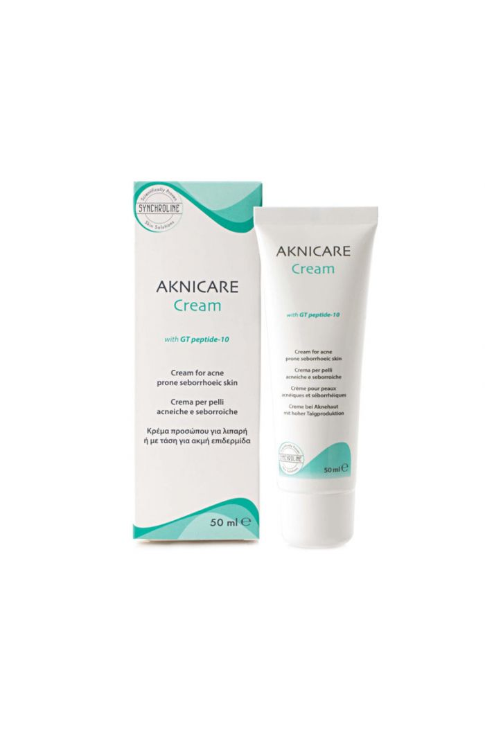 SYNCHROLINE Aknicare Face Cream With GT Peptide-10, 50ml