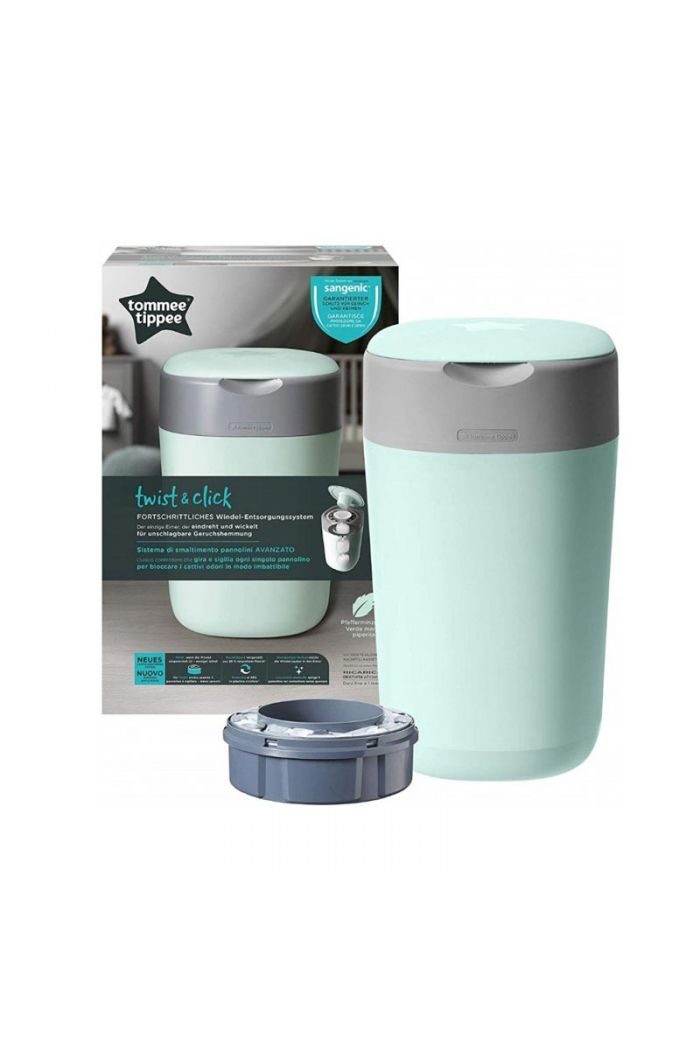 TOMMEE TIPPEE Twist and Click Sangetic Tec Sky Blue Κάδος Απόρριψης Παιδικής Πάνας & Κασέτα με Σακούλες (Κωδ.85101401)