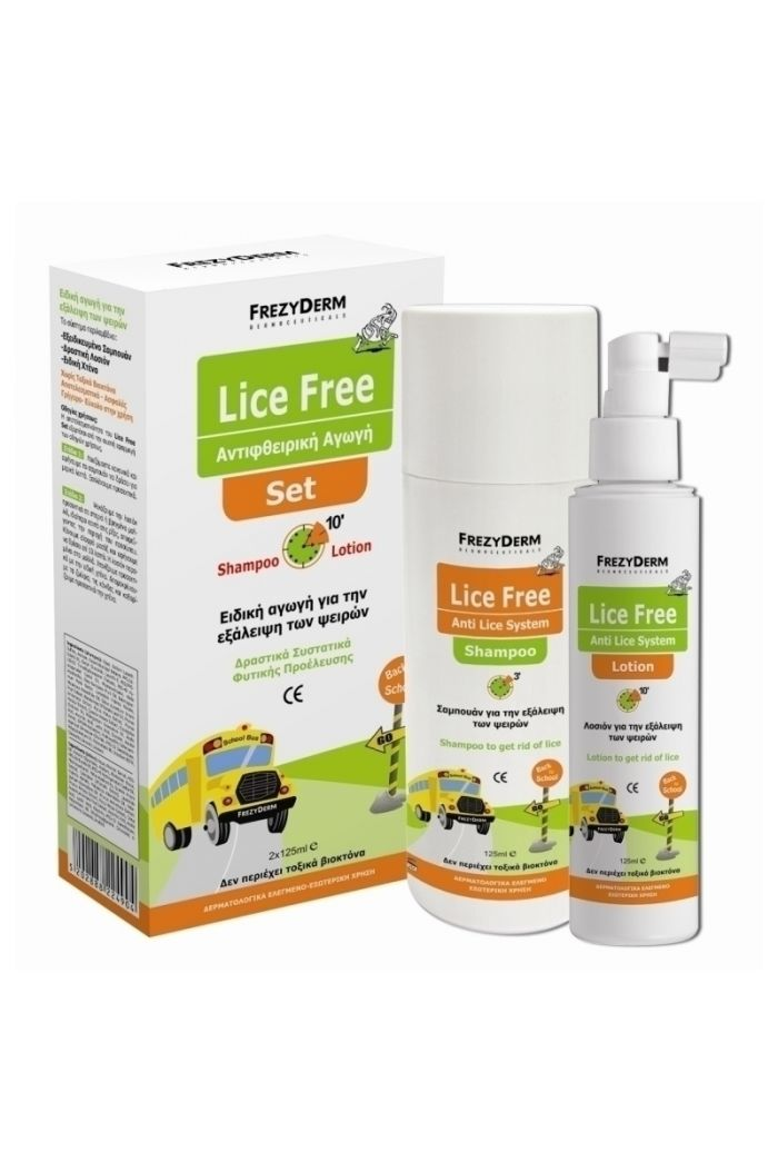 FREZYDERM Lice Free Set Shampoo & Lotion  2X125ml