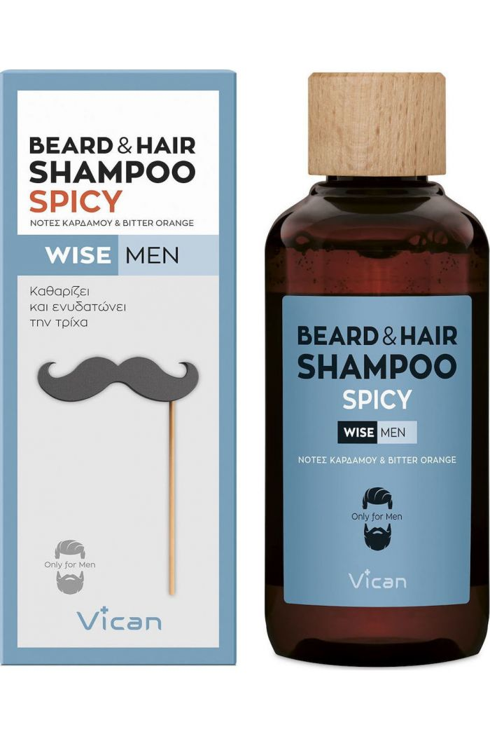 VICAN Wise Men - Beard Shampoo Spicy, 200ml